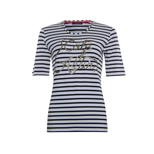 Roberto Sarto ladieswear t-shirts & tops - t-shirt stripe and print. available in size  (blue,multicolor,white)