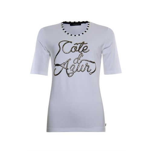 Roberto Sarto ladieswear t-shirts & tops - t-shirt stripe and print. available in size  (multicolor,white)