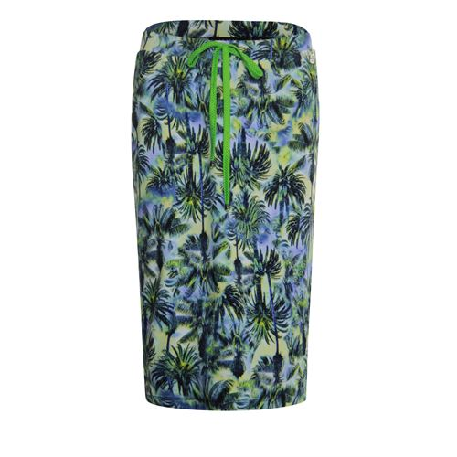 RS Sports ladieswear skirts - skirt print with stripe details. available in size 38,40,42,44,46,48 (blue,multicolor,olive,yellow)