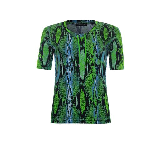 Poools ladieswear t-shirts & tops - t-shirt printed rib jersey. available in size 38,40,42,44,46,48 (multicolor)
