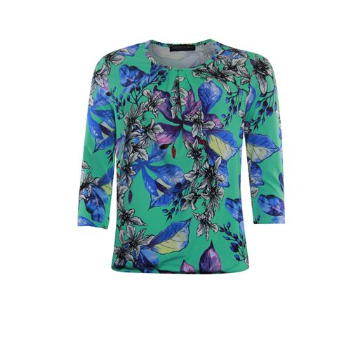 Roberto Sarto ladieswear t-shirts & tops - t-shirt blouson. available in size 40 (green,multicolor,purple,rose)