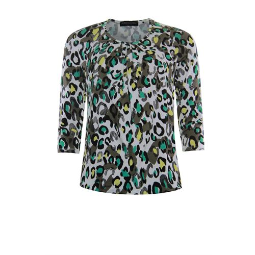 Roberto Sarto ladieswear t-shirts & tops - t-shirt blouson. available in size 46 (brown,green,multicolor,olive)
