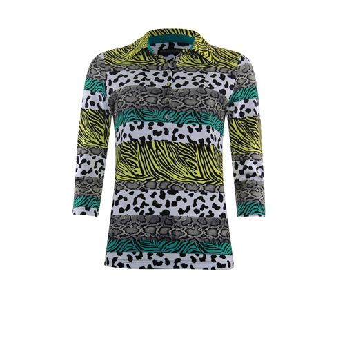 Roberto Sarto ladieswear t-shirts & tops - t-shirt polo. available in size 38,40,42,44,46,48 (green,multicolor,olive,yellow)