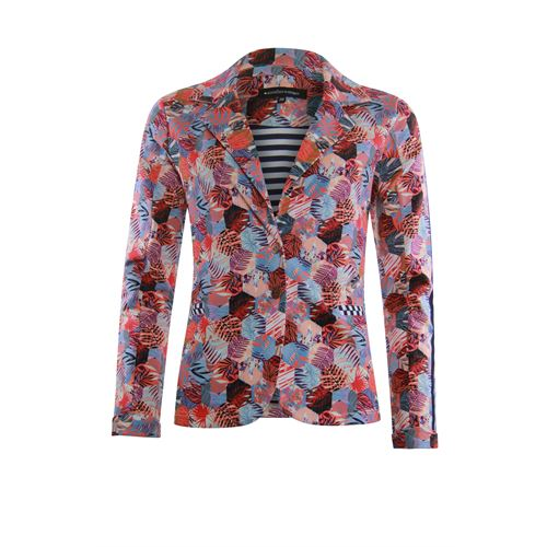 Anotherwoman ladieswear coats & jackets - sweat blazer in multicolour print. available in size 36,38,40,42,44,46 (blue,multicolor,off-white,red)
