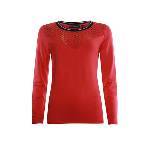 Anotherwoman ladieswear pullovers & vests - sweater with lace detail. available in size 36,38,40,42,44,46 (red)