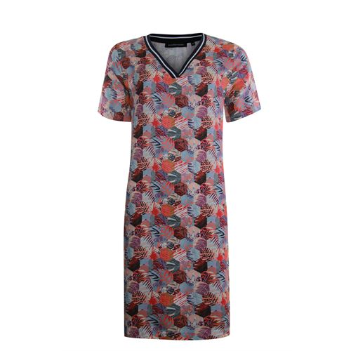 Anotherwoman ladieswear dresses - v-neck dress in multicolour print. available in size 36,38,40 (blue,multicolor,off-white,red)