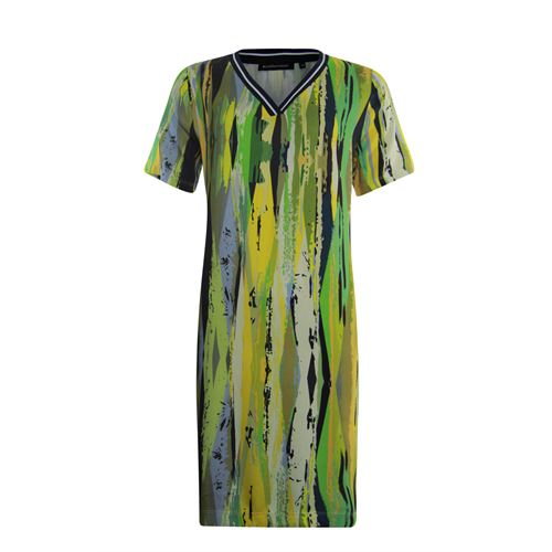 Anotherwoman ladieswear dresses - v-neck dress in multicolour print. available in size 36,38,40,42,44 (blue,green,multicolor,yellow)