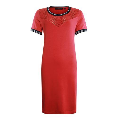 Anotherwoman dameskleding jurken - jurk met kant detail. beschikbaar in maat 36,38,40,42,44,46 (rood)