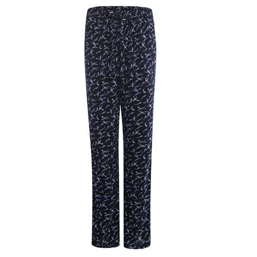Anotherwoman dameskleding broeken - broek met rechte wijde pijp.. beschikbaar in maat 36,40 (blauw,ecru,multicolor)