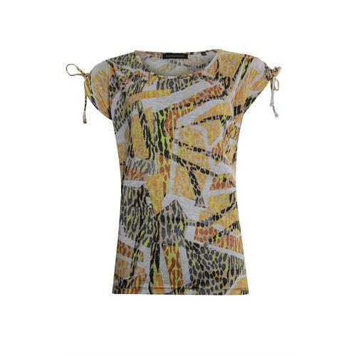 Anotherwoman dameskleding t-shirts & tops - t-shirt met koord detail op de schouder. beschikbaar in maat 36,38,40,46 (ecru,multicolor,zwart)