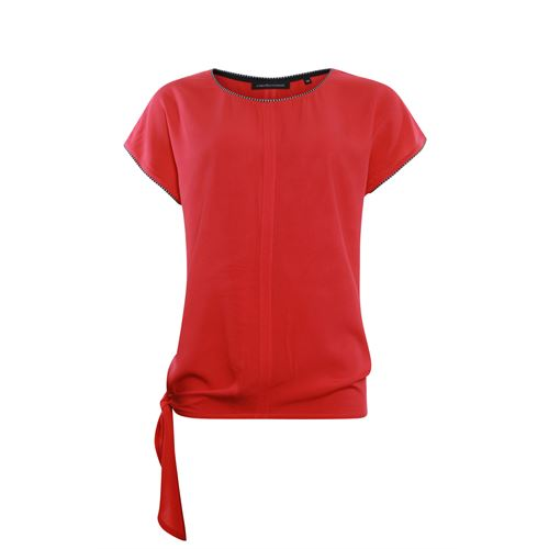 Anotherwoman ladieswear t-shirts & tops - woven top with bow side. available in size 42,44 (red)