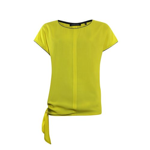 Anotherwoman ladieswear t-shirts & tops - woven top with bow side. available in size 40,42,46 (yellow)
