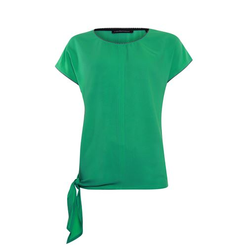 Anotherwoman ladieswear t-shirts & tops - woven top with bow side. available in size 36,40,42,44,46 (green)