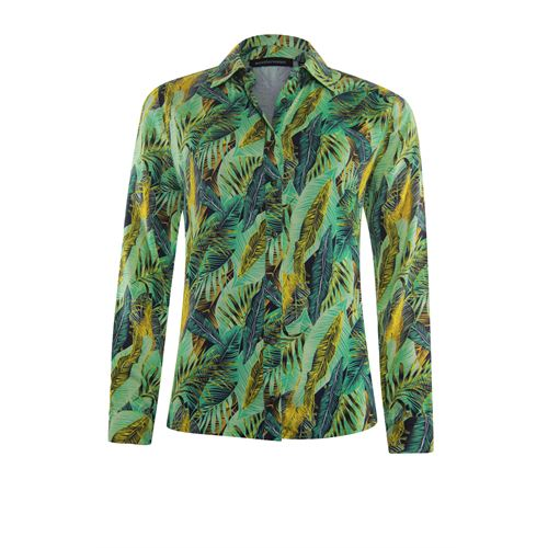 Anotherwoman ladieswear blouses & tunics - blouse in multicolour print. available in size 40,42,44,46 (green,multicolor,off-white,yellow)