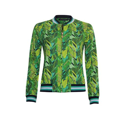 Anotherwoman ladieswear coats & jackets - bomber jacket in multicolour print with stripes. available in size 36,38,40,42,44 (blue,green,multicolor,yellow)