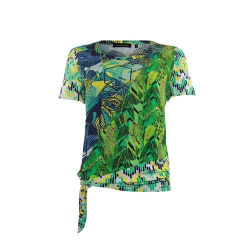 Anotherwoman ladieswear blouses & tunics - blouse made in mixed multicolour prints with bow. available in size 36,38,40,42,44,46 (blue,green,multicolor,yellow)