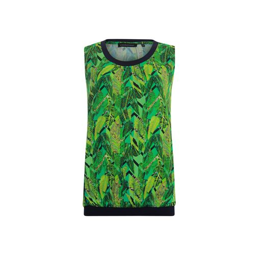 Anotherwoman ladieswear t-shirts & tops - sleeveless top in multicolour print with contrast. available in size 36,38,40,42,44 (blue,green,multicolor,yellow)