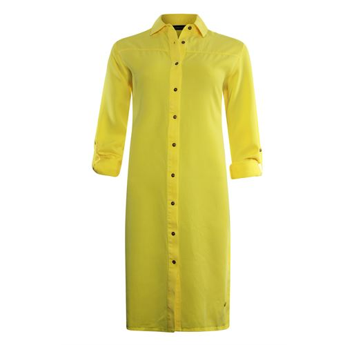 Anotherwoman ladieswear dresses - tencel shirt dress. available in size 36,38,40,42,44,46 (yellow)
