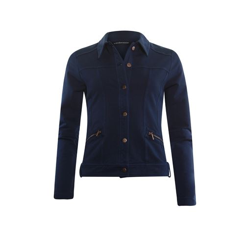 Anotherwoman ladieswear coats & jackets - sweat jacket. available in size 36,38,40,42,44,46 (blue)