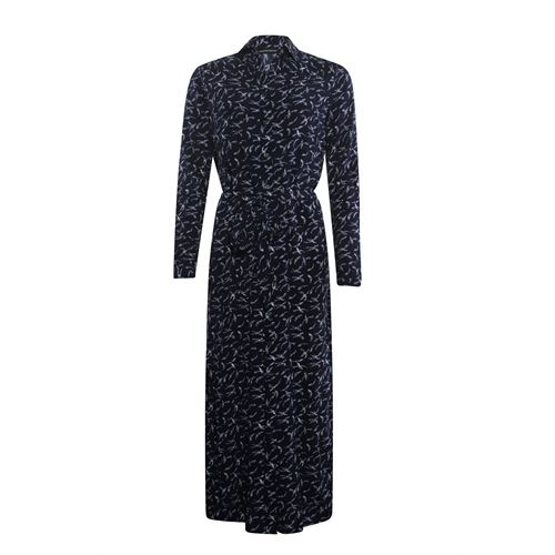 Anotherwoman ladieswear dresses - long printed shirt dress. available in size 36,38,42,44 (blue,multicolor,off-white)