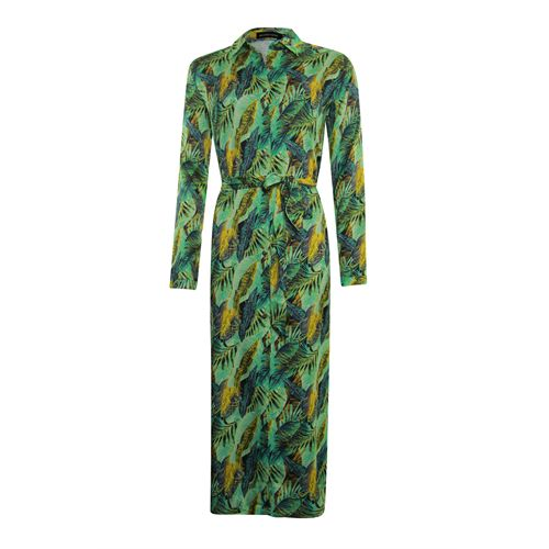 Anotherwoman ladieswear dresses - long shirt dress in multicolour print. available in size 36,38,40,42,44 (green,multicolor,off-white,yellow)