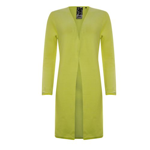 Poools dameskleding truien & vesten - vest knit 2 kleurig. beschikbaar in maat 36,38,40,42,44 (geel)