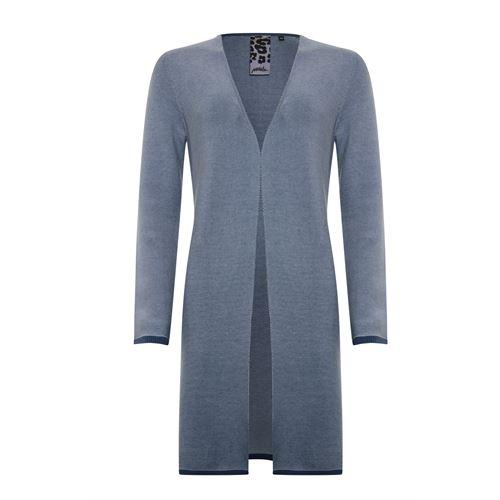 Poools dameskleding truien & vesten - vest knit 2 kleurig. beschikbaar in maat 38,42,44,46 (blauw)