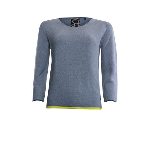 Poools dameskleding truien & vesten - sweater knit. beschikbaar in maat 36,38,40,42,44,46 (blauw)