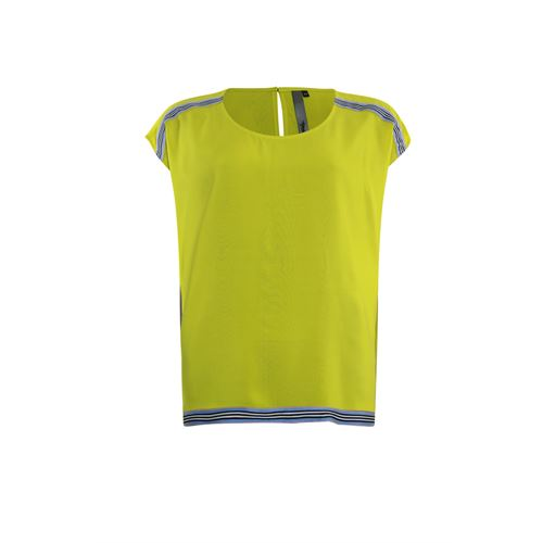 Poools ladieswear blouses & tunics - blouse tape contrast. available in size 36,38,40,42,44,46 (yellow)