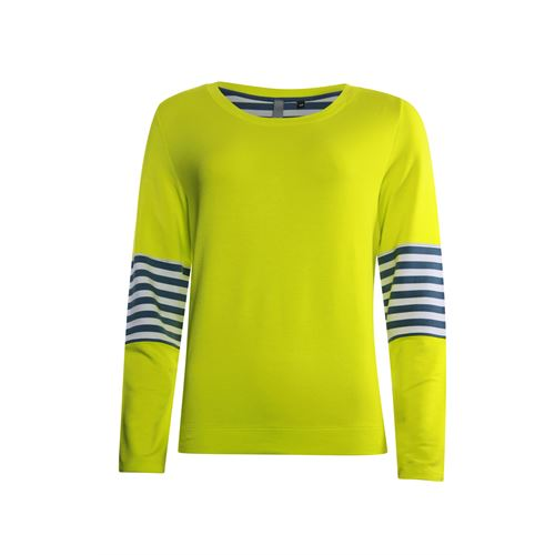 Poools ladieswear pullovers & vests - sweater fluor contrast. available in size 36,38,40,42,44,46 (yellow)