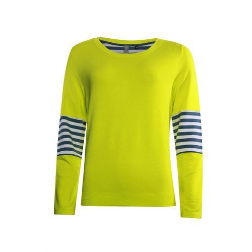 Poools dameskleding truien & vesten - sweater fluor contrast. beschikbaar in maat 36,38,40,42,44,46 (geel)