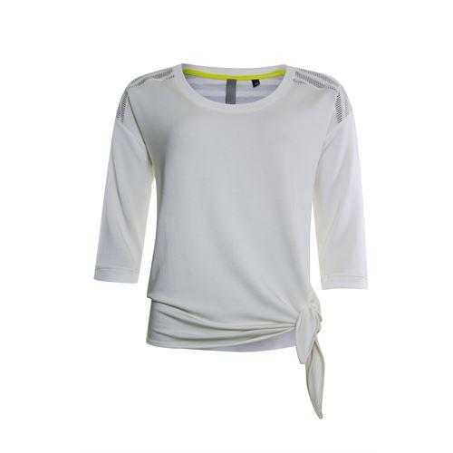 Poools dameskleding truien & vesten - sweater mesh schouder. beschikbaar in maat  (ecru)