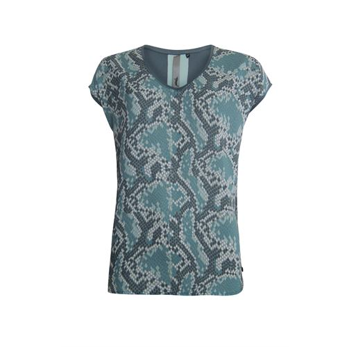 Poools ladieswear t-shirts & tops - t-shirt print front. available in size 36,44 (grey)