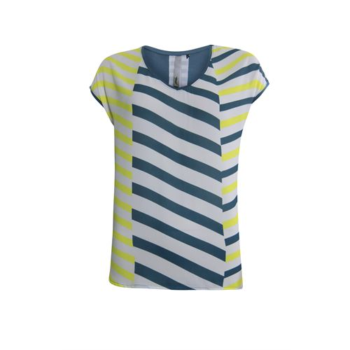 Poools ladieswear t-shirts & tops - t-shirt print front. available in size 36,42,44 (blue)