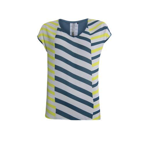 Poools dameskleding t-shirts & tops - t-shirt print front. beschikbaar in maat 36,38,40,42,44,46 (blauw)