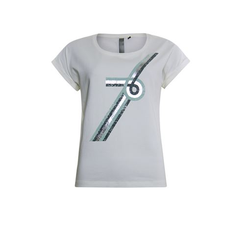 Poools ladieswear t-shirts & tops - t-shirt number 76. available in size  (off-white)