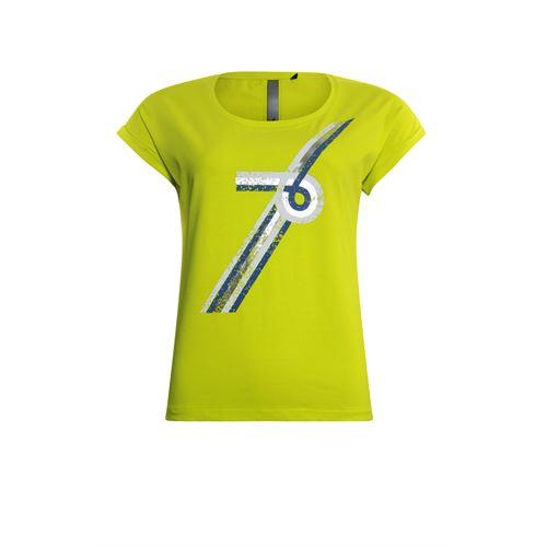 Poools dameskleding t-shirts & tops - t-shirt nummer 76. beschikbaar in maat  (geel)