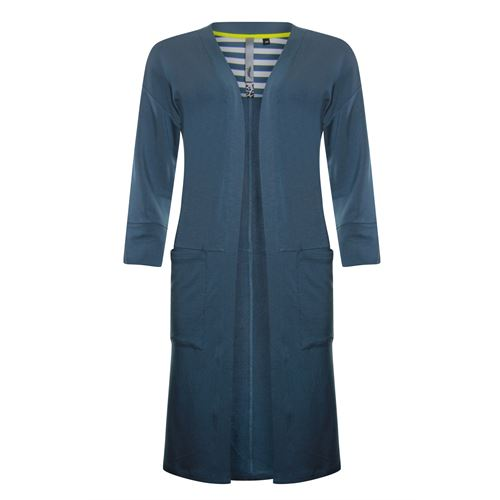 Poools ladieswear pullovers & vests - cardigan micromodal. available in size 36,38,40,42,44,46 (blue)