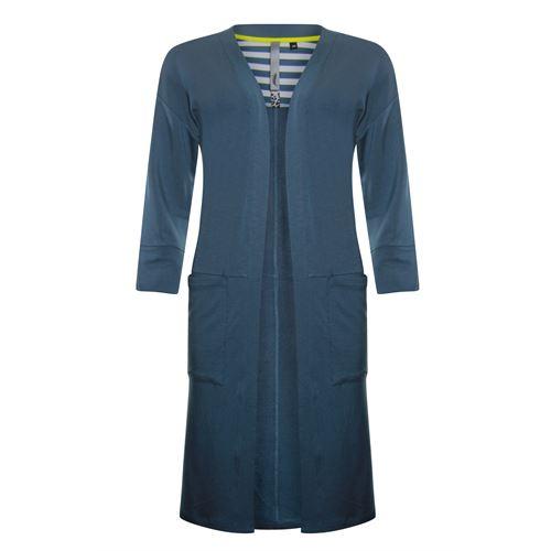 Poools dameskleding truien & vesten - cardigan micromodal. beschikbaar in maat 36,38,40,42,44,46 (blauw)