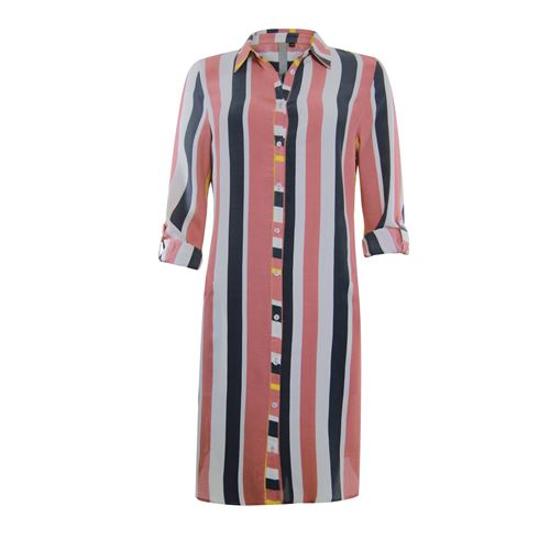 Poools dameskleding jurken - jurk/lange blouse gestreept. beschikbaar in maat 36,38,40,42,44,46 (grijs)