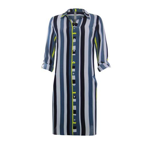 Poools dameskleding jurken - jurk/lange blouse gestreept. beschikbaar in maat  (blauw)