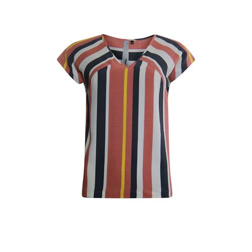 Poools ladieswear blouses & tunics - blouse v neck striped. available in size 36,38,40,42,44,46 (grey)
