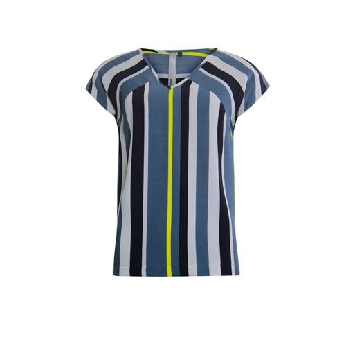 Poools ladieswear blouses & tunics - blouse v neck striped. available in size 36,38,40,42,44,46 (blue)