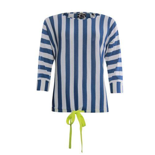Poools dameskleding truien & vesten - sweater stripe with rope. beschikbaar in maat 36,38,40,42,44 (blauw)