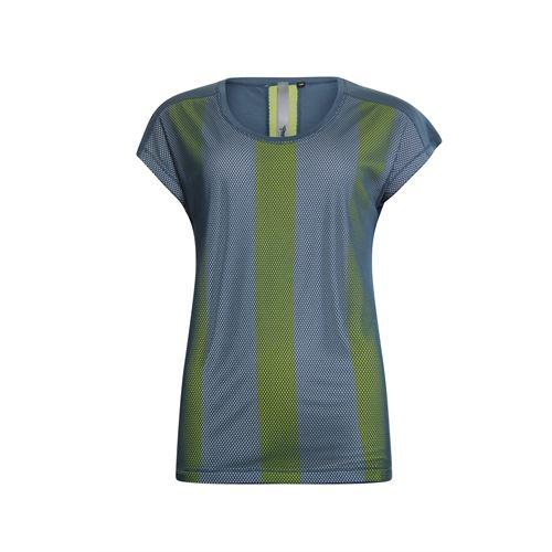 Poools dameskleding t-shirts & tops - t-shirt netting front. beschikbaar in maat 36,38,40,44,46 (blauw)
