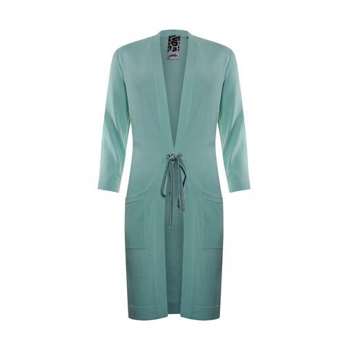 Poools dameskleding truien & vesten - cardigan plain rope closure. beschikbaar in maat 36,38,40,42,44,46 (groen)