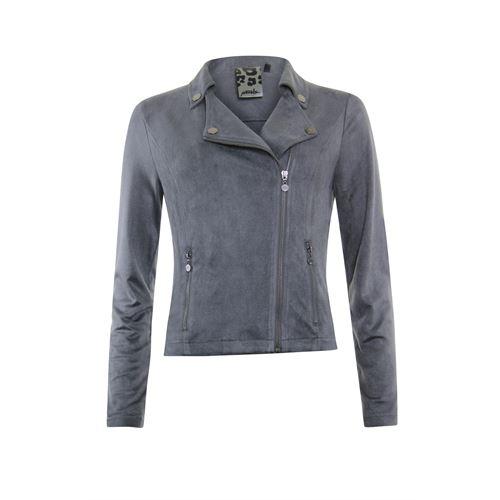 Poools dameskleding jassen & blazers - jacket biker ritssluiting. beschikbaar in maat 36,38,46 (grijs)
