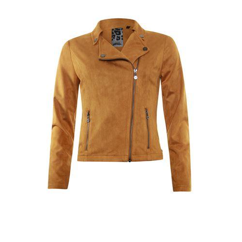 Poools dameskleding jassen & blazers - jacket biker ritssluiting. beschikbaar in maat 40,42,44 (bruin)