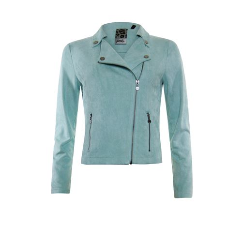 Poools ladieswear coats & jackets - jacket biker zip closure. available in size 36,38,40 (green)