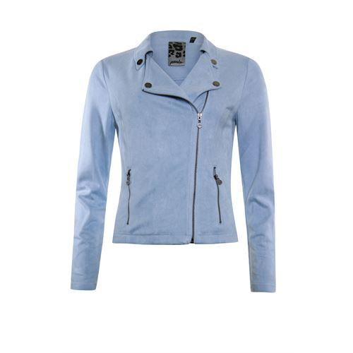 Poools ladieswear coats & jackets - jacket biker zip closure. available in size 38 (blue)